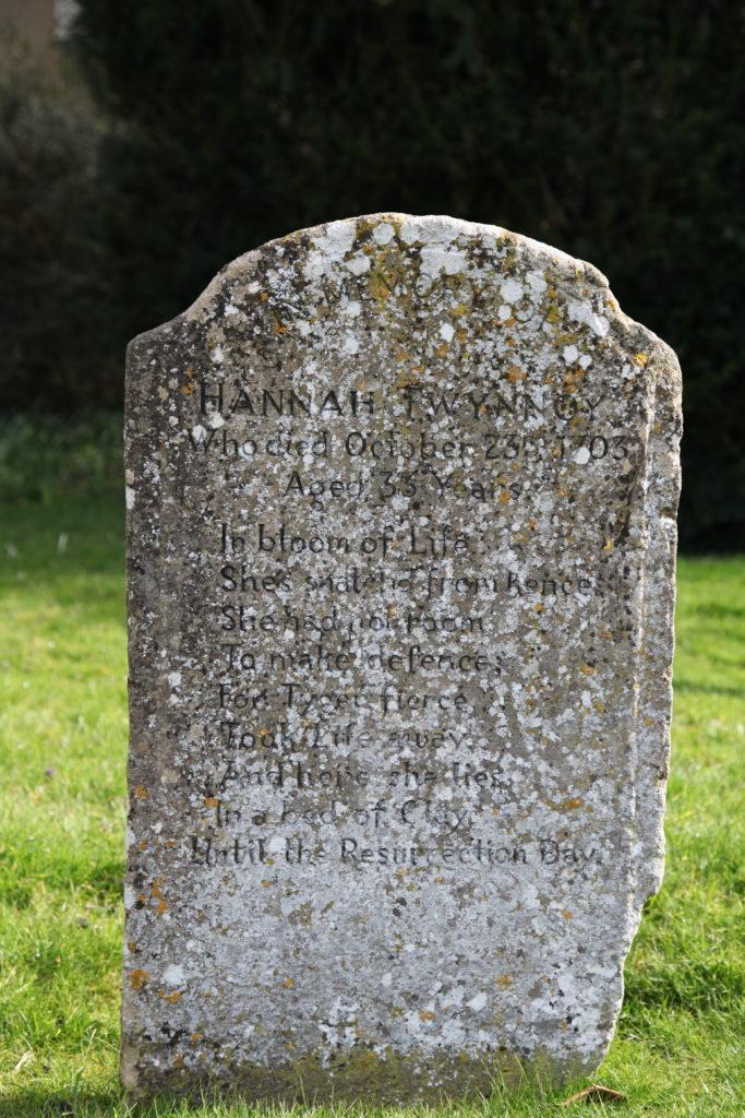 Hannah Twynnoy Gravestone
