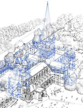 Illustration of Abbey as was