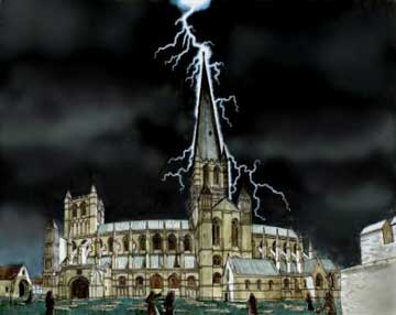 Lightning Striking the Abbey