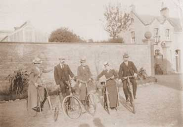 Cycles were sometimes used for croquet at Cowbridge