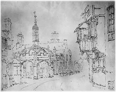 gritin drawing of the market cross