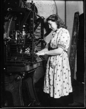 Worker at Linolite