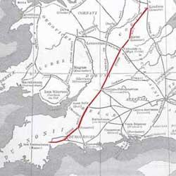 Foss Way Map